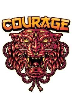 Tigre courage
