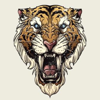 Tigre à dents saber