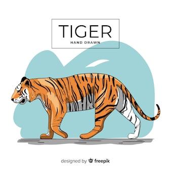 Tigre dessiné à la main