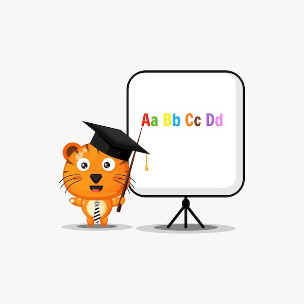 Tigre enseignant mignon