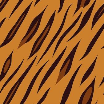 Tigre imprimé animal carrelage sans couture, illustration vectorielle