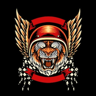 Tigre, mascotte du club de moto