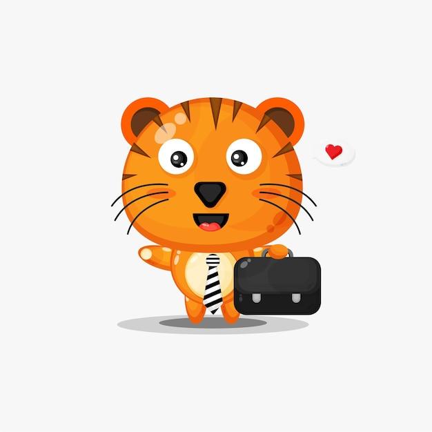 Tigre mignon va travailler