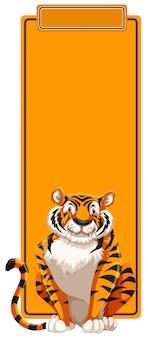 Un tigre sur un modèle vierge