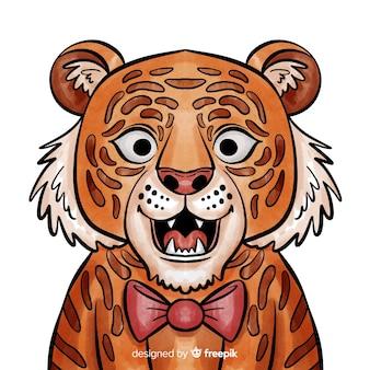 Tigre avec noeud papillon