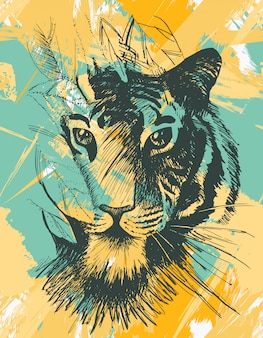 Tigre sauvage grunge