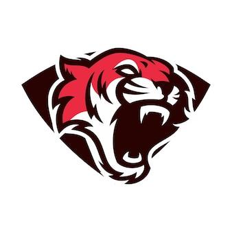 Tigre - vector logo / icône illustration mascotte