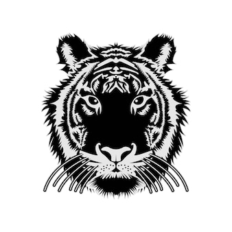 Tigre visage tête vector tribal design inspiration