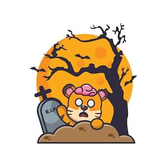 Tigre zombie montée du cimetière