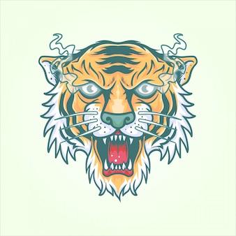 Tigre Vecteur Premium