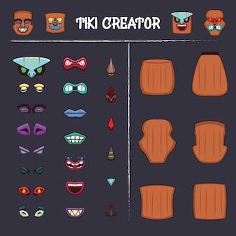 Tiki créateur avec plusieurs options