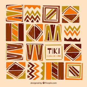 Tiki de fond de formes abstraites peintes à la main