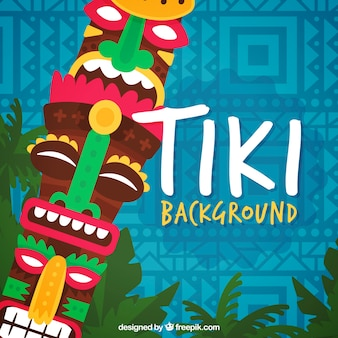 Tiki totem background