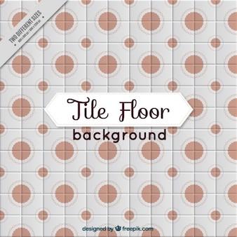Tile avec des cercles bruns
