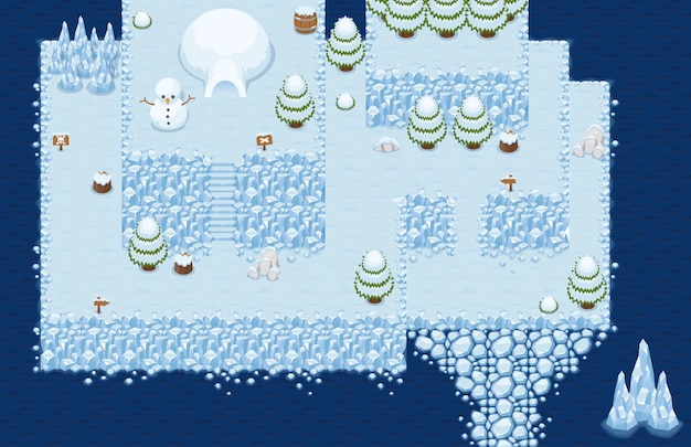 Tileset top christmas