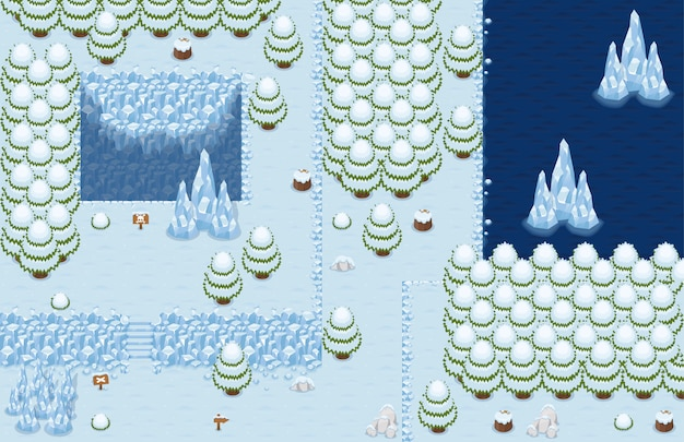 Tileset top down arctique