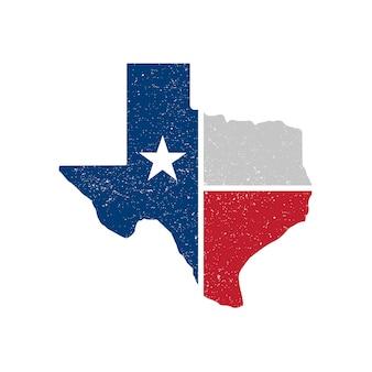 Timbre de carte de vecteur du texas