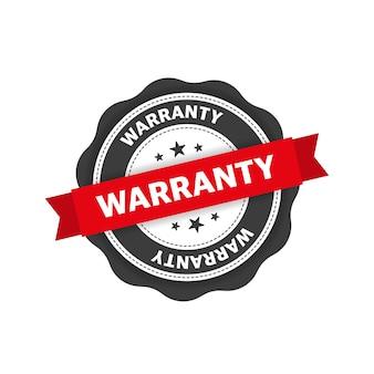 Timbre de garantie rouge design plat icône de coche icône de bouclier de document de liste de contrôle