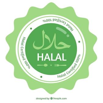 Timbre halal moderne avec un design plat