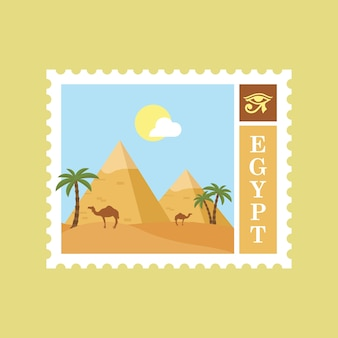 Timbre postal plat egypte