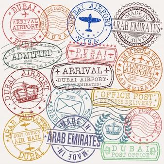 Timbre de qualité du passeport postal de dubai arab emirates