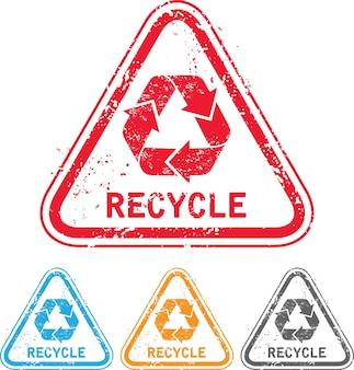Timbre de recyclage grunge