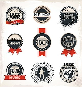 Timbres et étiquettes de musique