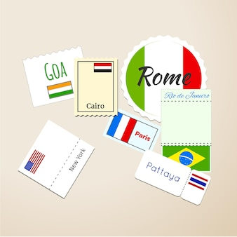 Timbres de passeport international, marques postales