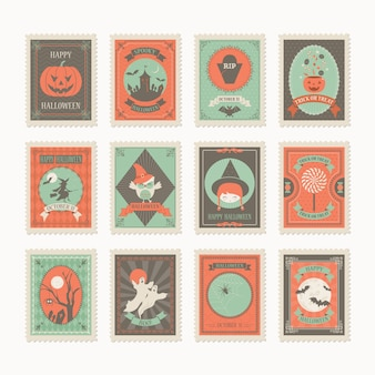 Timbres postaux halloween