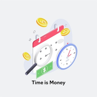 Time is money, business and finance concept