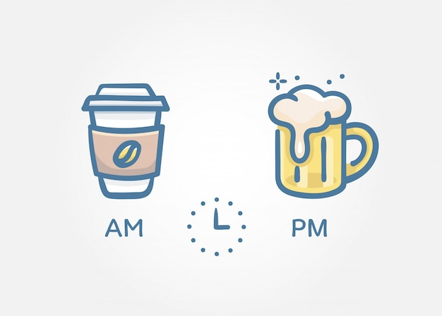 Time to drinks concept