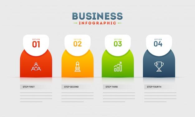 Timeline infographic présentation avec des défauts commerciaux