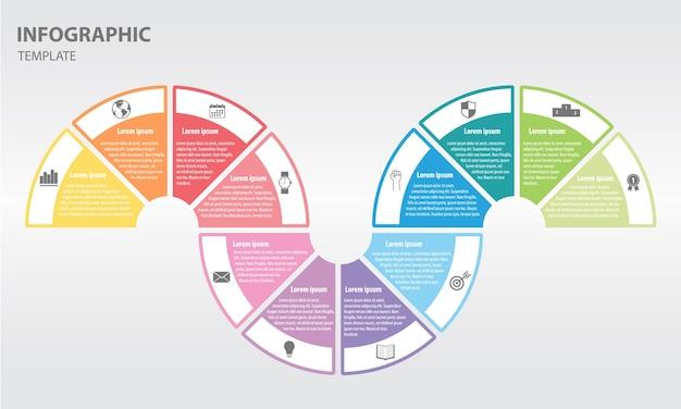 Timeline infographique 12 options