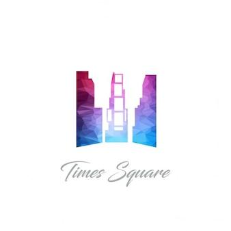 Times square monument polygon logo