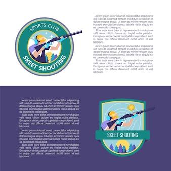 Tir au skeet. concevoir avec place pour le texte. logo vectoriel du club.