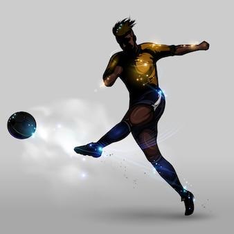 Tir de puissance de football abstrait
