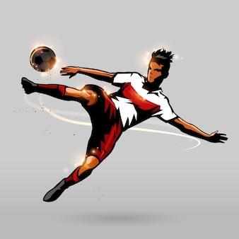 Tir rapide de football
