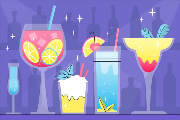 Tirage de la collection de cocktails