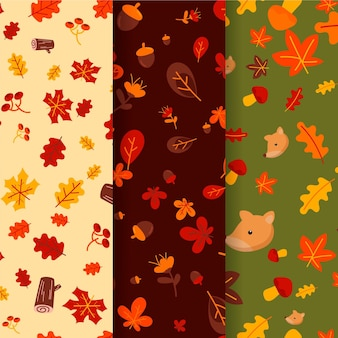 Tirage de collection de motifs d'automne