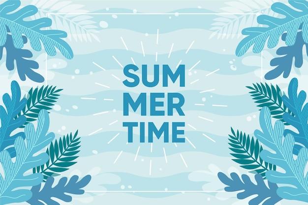 Tirage de fond d'été