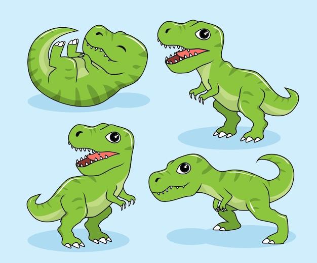 Tiranosaurus rex dinosaures de dessin animé t-rex