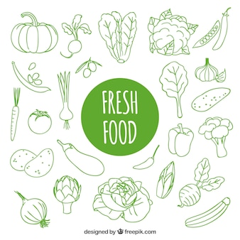 Tiré par la main des aliments frais