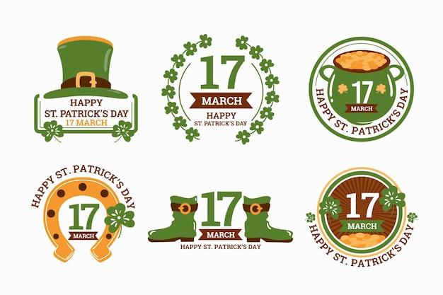 Tiré st. collection d'étiquettes patrick's day