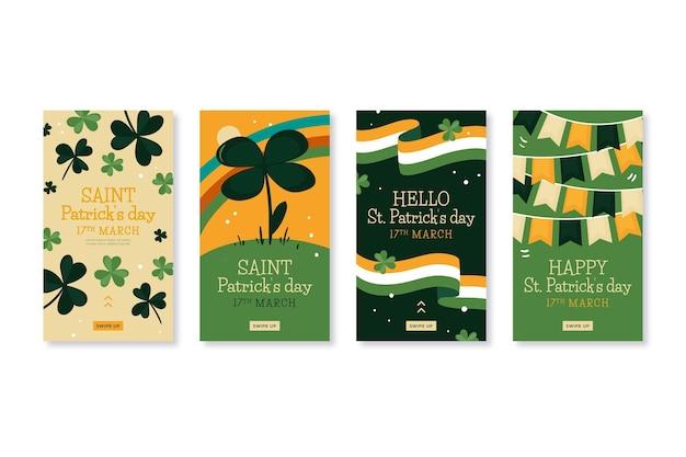 Tiré st. collection d'histoires instagram de patrick's day