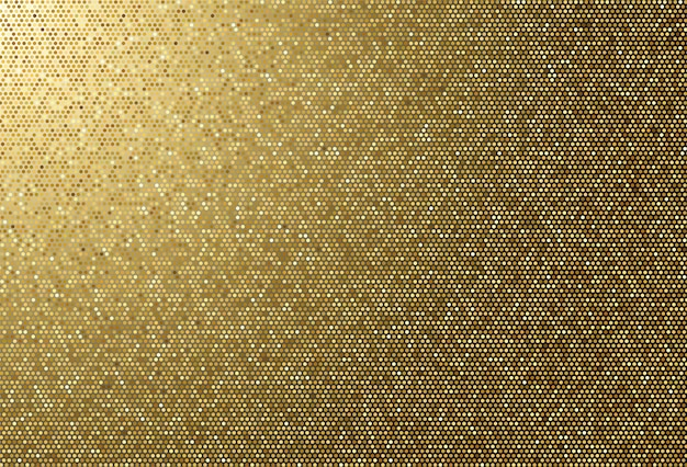 Tissu abstrait fond de texture en pointillé doré