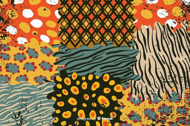 Tissu africain et fond de peau d'animal