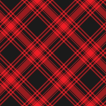 Tissu de kilt rouge et noir avec un motif de textures de tissu de kilt de menzies