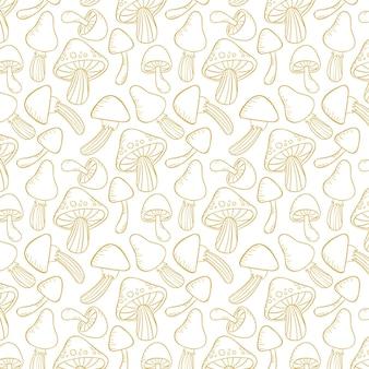 Tissu à motif champignon à graver