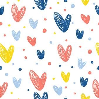 Tissu sans couture textile motif de fond baby doodle impression d'échantillon de tissu