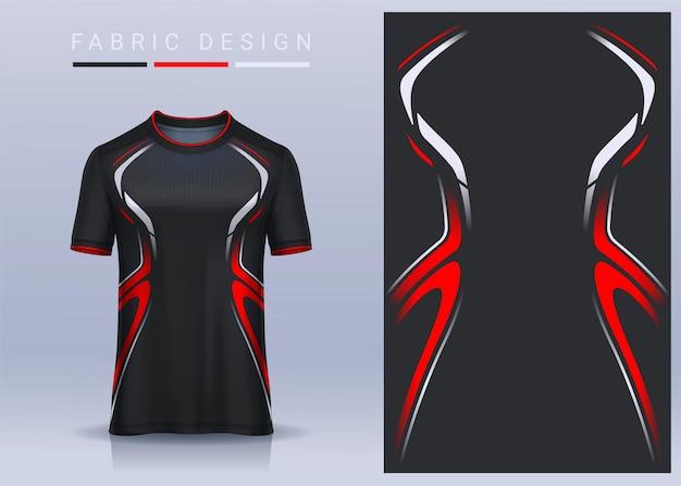 Tissu textile pour t-shirt de sport, maillot de football pour club de football. vue de face uniforme.